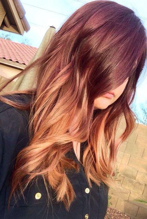 Окрашивание балаяж на рыжие волосы